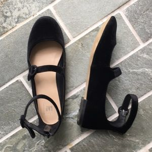 Gap Velvet Mary Jane Ballet Flats